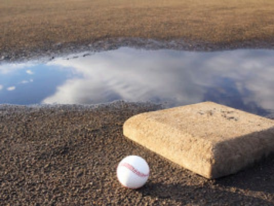 Baseball field after the rain (Credit: iStockPhotos)