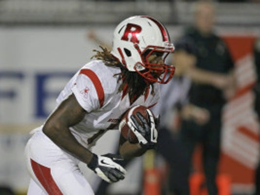 Rutgers returner Janarion Grant scored a 100-yard touchdown on his first career touch at the collegiate level in the 2013 season-opener. (AP)