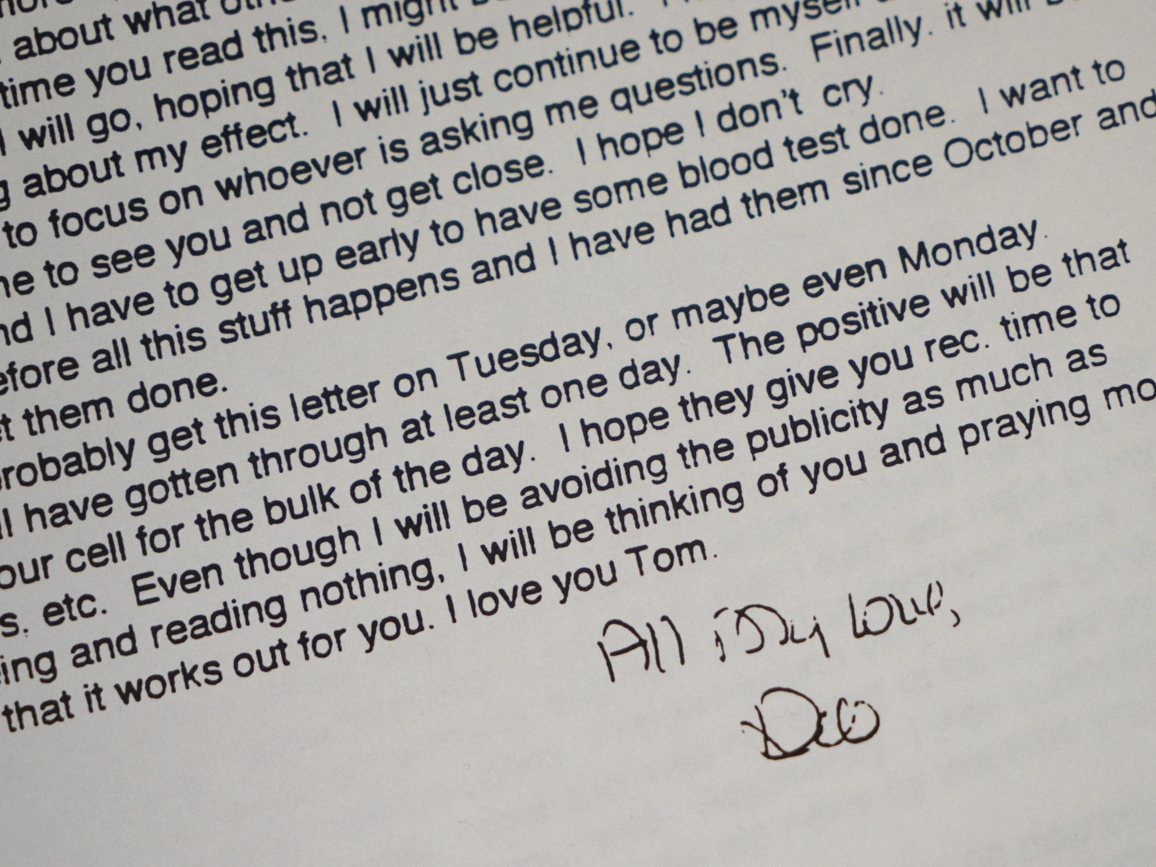 Letters written by Tom Capano's mistress Deborah MacIntyre