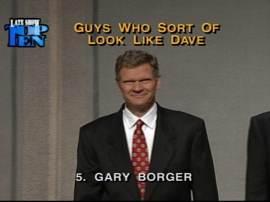 Gary Borger on Late Night