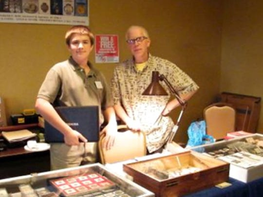 submittedFred Beihl and 14 year old son Eddie at the Shrewsbury Coin Show.