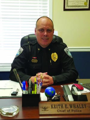 Holly Ridge Police Department veteran Keith Whaley after being promoted to chief in 2017. Whaley was recently demoted to rank of major after a internal town investigation.