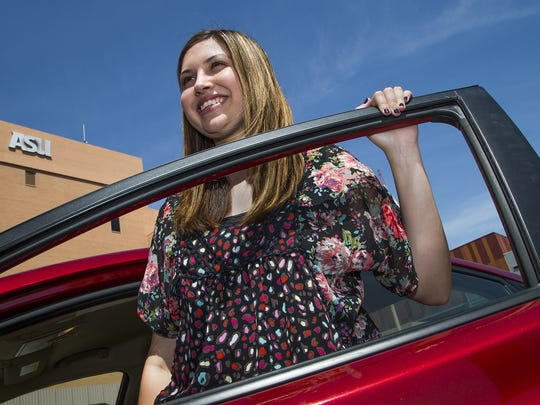 Breanna Carpenter is a former foster child who showed up at the state Legislature on April 27, 2017, to speak in favor of a bill that would allow foster kids to buy auto insurance. Currently, she attends and works at Arizona State University in downtown Phoenix.