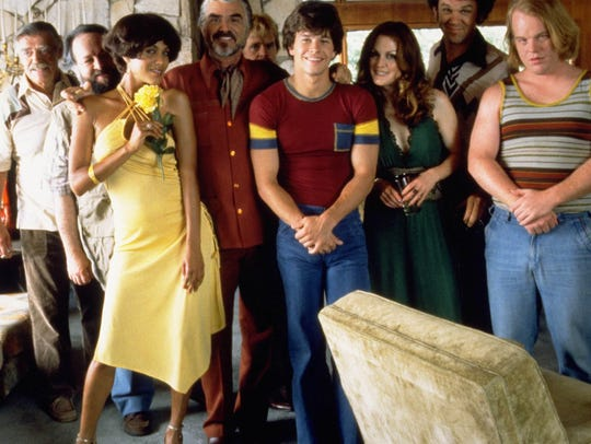 "The ""Boogie Nights"" cast: Jack Wallace (from left),"