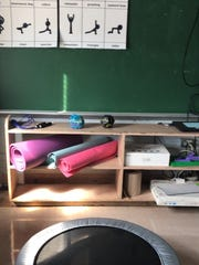 A classroom at Yorkship Family School is dedicated to teaching students coping skills and patience. Part of therapies in the room include mindfulness yoga.