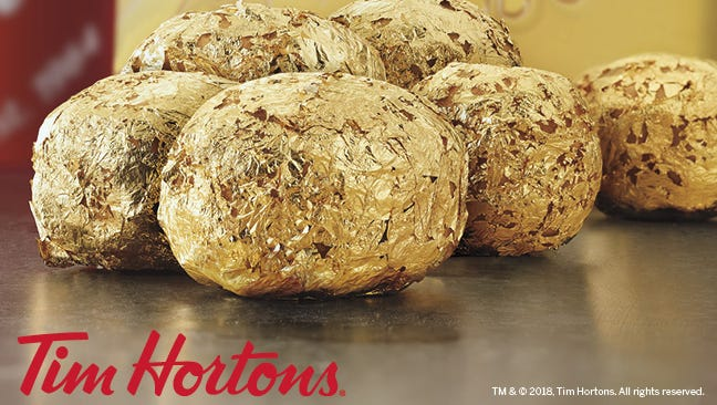 Golden Timbits are hidden at two Tim Hortons metro Detroit locations.