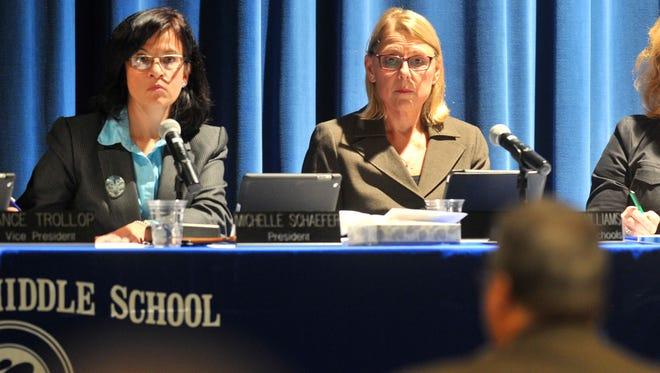 Michelle Schaefer, left, is not seeking re-election to the Wausau School Board.