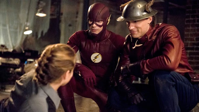 """Grant Gustin and Teddy Sears are a pair of speedsters ready to save the day in """"The Flash."""""""