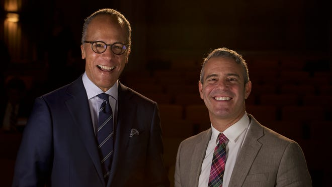 Lester Holt and Andy Cohen at the 2016 Make a Difference Day Awards, an annual luncheon that honors community members who are serving those in need.