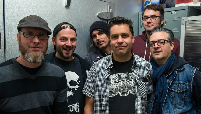 Dave Kirchgessner (from left), Brandon Jenison, Jim Hofer, Nate Cohn, Colin Clive and Rick Johnson are members of ska band Mustard Plug.