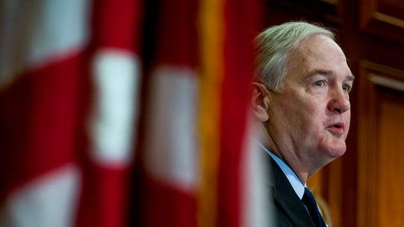 Alabama Attorney General Luther Strange is appointed, by Governor Robert Bentley, to fill the U.S. Senate seat left vacant by the appointment of Sen. Jeff Sessions to be U.S. Attorney General on Thursday February 9, 2017 in Montgomery, Ala.