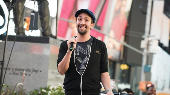 Lin-Manuel Miranda attends Viva Broadway to kick off