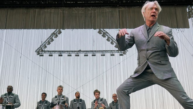 David Byrne performs at the Coachella Valley music and Arts Festival at Empire Polo Club. Mandatory Credit: Zoe Meyers/The Desert Sun via USA TODAY NETWORK