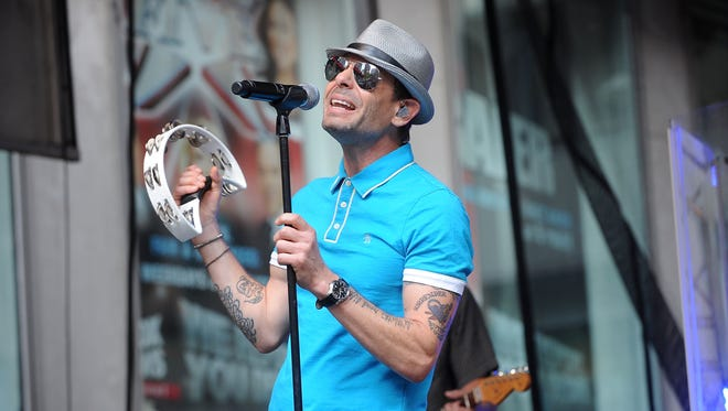"""Lead singer of the Gin Blossoms Robin Wilson performs during """"FOX & Friends"""" in 2014 in New York City. The band will headline a show at Fox Cities Stadium this summer."""