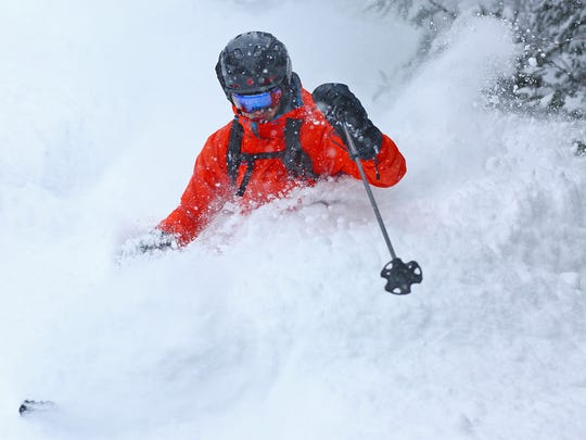 Sugarbush Resort skiers needed snorkels Wednesday, March 15, 2017, after nor'easter Stella dumped more than two feet, possibly even three feet in the mountains of Vermont.