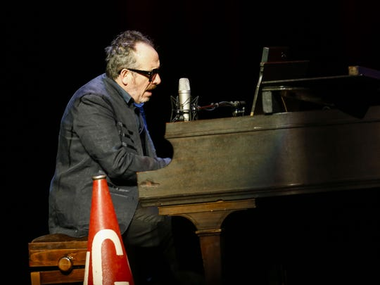 Elvis Costello performs on Friday, April 8, 2016, at