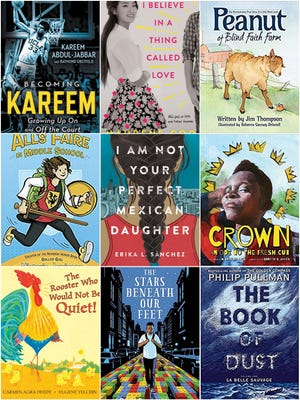 A selection of new books for children and teens in 2017 includes a coming-of-age memoir by former Milwaukee Bucks star Kareem Abdul-Jabbar