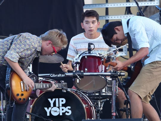Thursday: The Yip Yops, seen performing at the 2014 Tachevah block party, will perform with the BrosQuitos at Pappy and Harriet's.