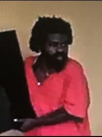 Police released a photo of a suspect they say stole three televisions and possibly a generator from a campus apartment complex's lobby last week.