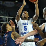 MTSU men's basketball grinds out win at Old Dominion to maintain control of C-USA