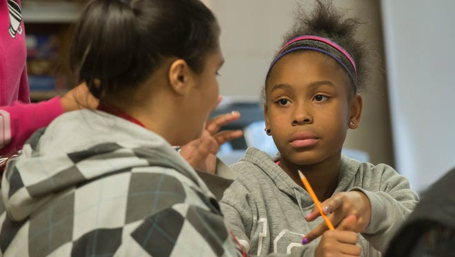 Albion resident A'tiyah Artis, 12, is a sixth grader at Albion Public Schools but will be attending Marshall Middle School later this month as part of a decision by both districts to send Albion's middle schoolers to learn in Marshall.