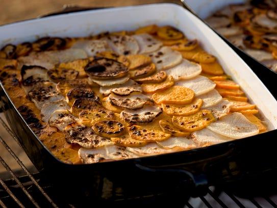 Sweet potato au gratin at the 7th annual Food Invasion
