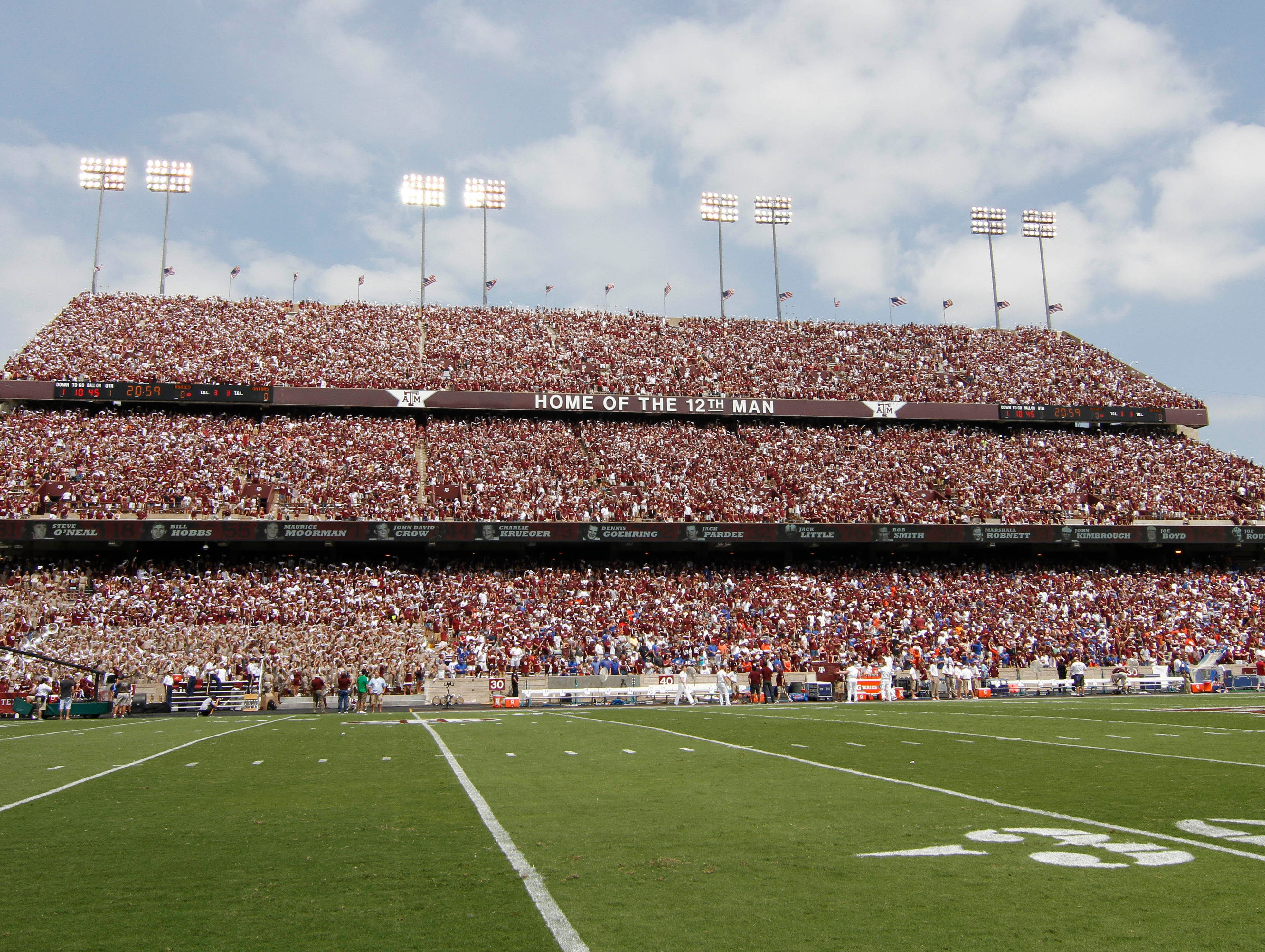 """Kyle Field, Texas A&M: The experience begins the night before the kickoff when thousands of fans show up for midnight yell practice led by the school's Corps of Cadets. Those yells are part of the game-day traditions of the school that is also home of the """"12th Man."""""""