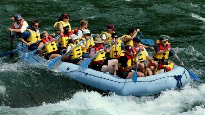 Snake River in Wyoming is a top destination for whitewater rafting.