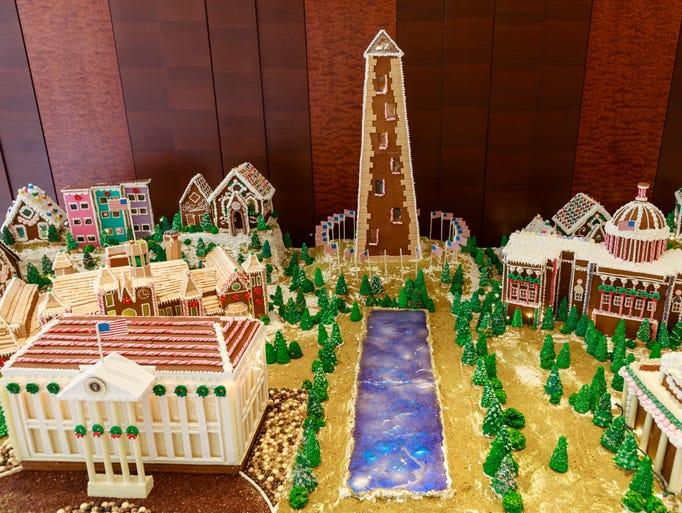 destination gingerbread displays