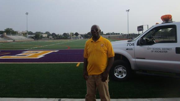 Sam Kimble, East football field