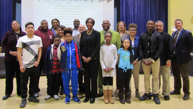 The Bulldogs of the Month for February were honored at the Bridgeton Public Schools' Board of Education meeting in March.