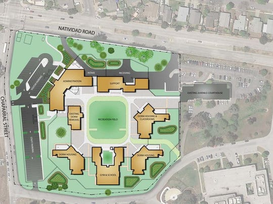 The new juvenile hall will be built where the existing one is located but include a more modern design.