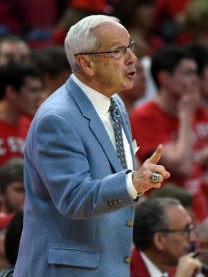 North Carolina coach Roy Williams
