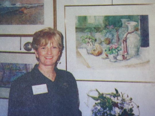 Frances Knight Wells at an exhibition in 2000. The