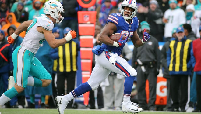 Bills tight end Charles Clay could be one of several players not with the team in 2018.