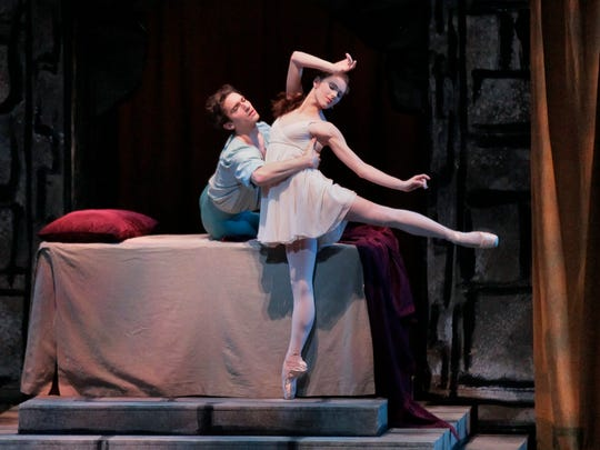 "Tiler Peck and Zachary Catazaro star in the New York City Ballet production of ""Romeo + Juliet."""
