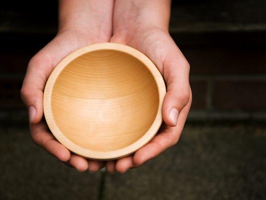 Wooden Begging Bowl