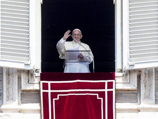 EPA VATICAN POPE FRANCIS REGINA COELI REL BELIEF (FAITH) VAT RO