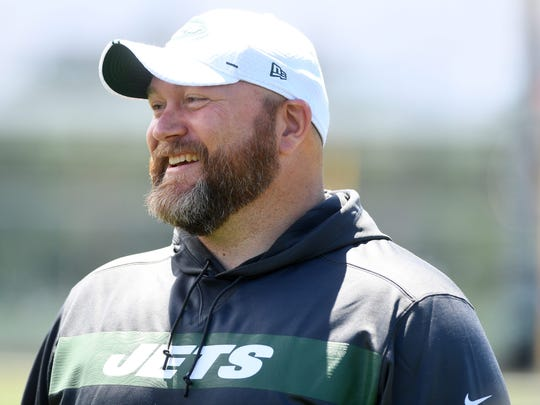 The Jets practice at the Atlantic Health Jets Training Center in Florham Park on Tuesday, June 11, 2019. General Manager Joe Douglas.  Delbarton Vs West Morris