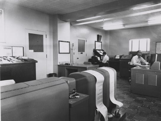Workers at the terminal facility, around 1955.
