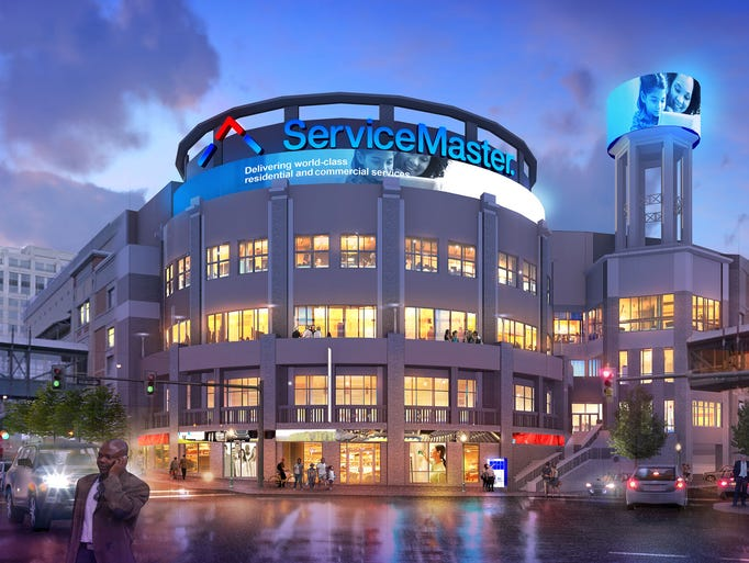 Planned ServiceMaster Innovation Center in Downtown
