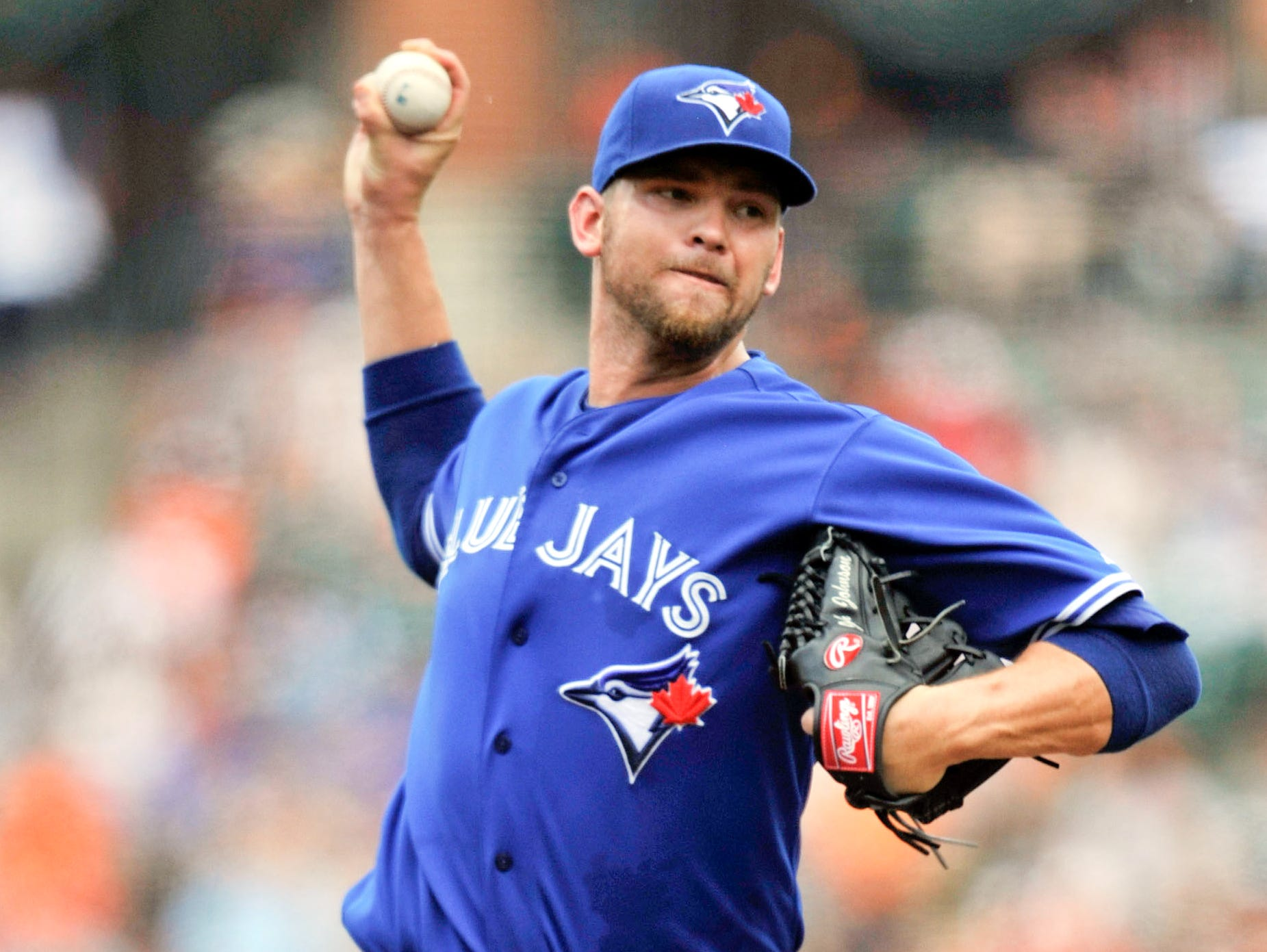 Aug. 13: Toronto Blue Jays pitcher Josh Johnson is on the 60-day disabled list with forearm soreness.