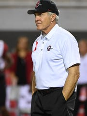 San Diego State head coach Rocky Long has led the Aztecs to six straight bowl game appearances.