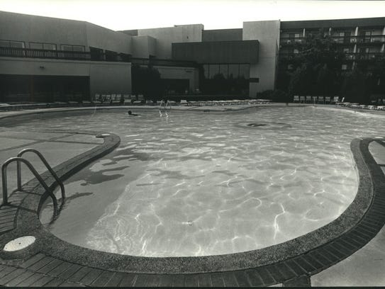 This large outdoor pool is one of two pools at the