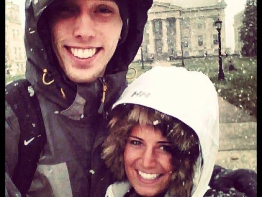 Jarrod Uthoff and his fiancee, Jessie Jordan, at the
