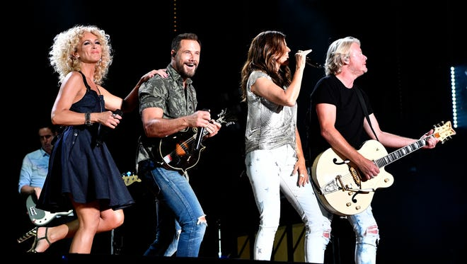 Little Big Town performs at Nissan Stadium during the CMA Music Festival on June 11, 2017, in Nashville.