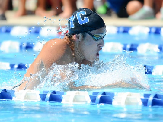 Tenby Chase's Zachary Fong swims in the boys 15-18 200 meter individual medley during Sunday's Tri-County Swimming Championships at Tenby Chase Swim Club in Delran. 8.7.16. Joe Warner/For the Courier-Post