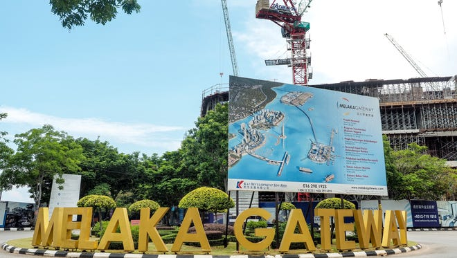 Melaka Gateway is a $10 billion Chinese-invested harbor project on the Malacca Strait.
