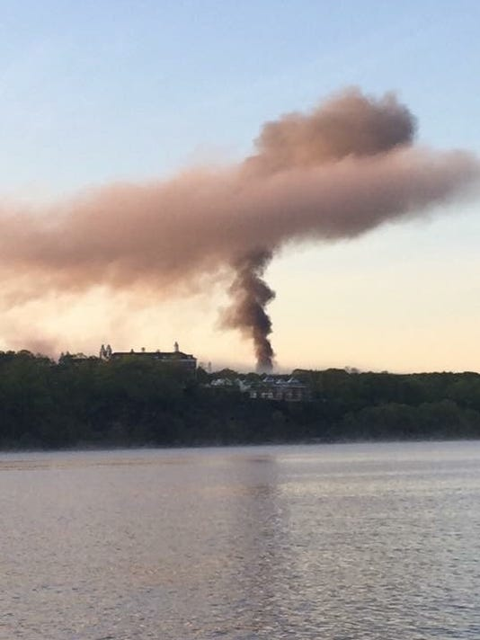 Smoke from Psych Center fire