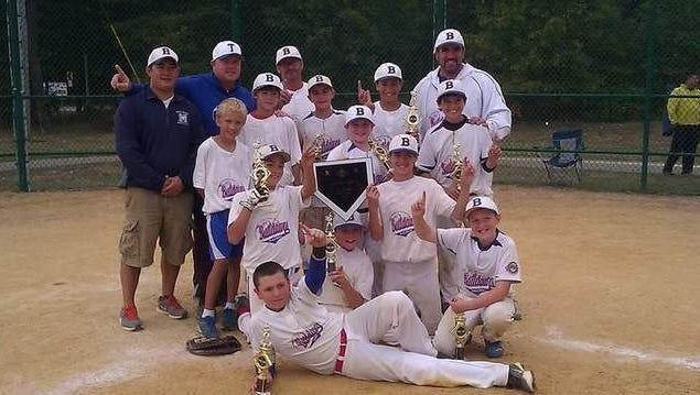 Jersey Shore Baseball Tournament Team Celebrates Winning the Tag'em Tournaments Bayside Battle.